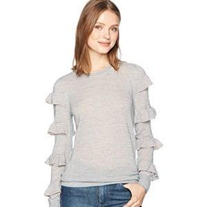 Rebecca Taylor Women's Ruffle Pullover Top Medium